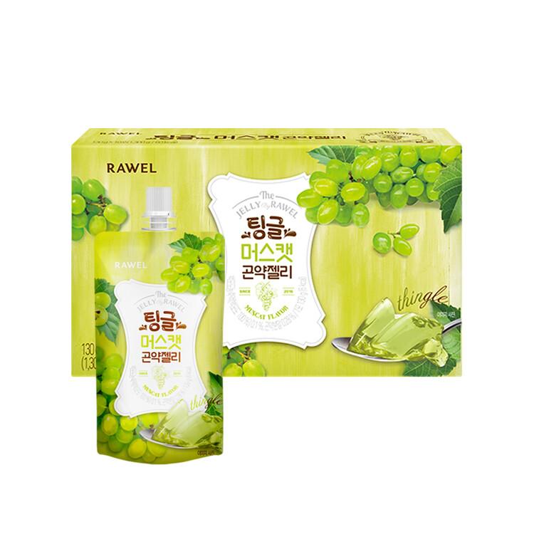 [한국생활건강] 로엘 곤약젤리 머스캣(1팩당 130g 6 kcal)