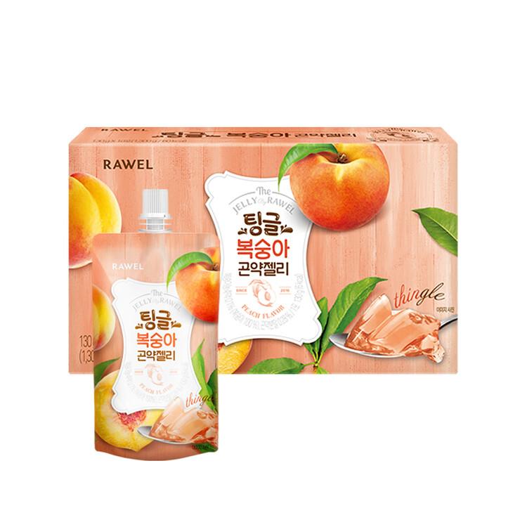 [한국생활건강] 로엘 곤약젤리 복숭아(1팩당 130g 6 kcal)