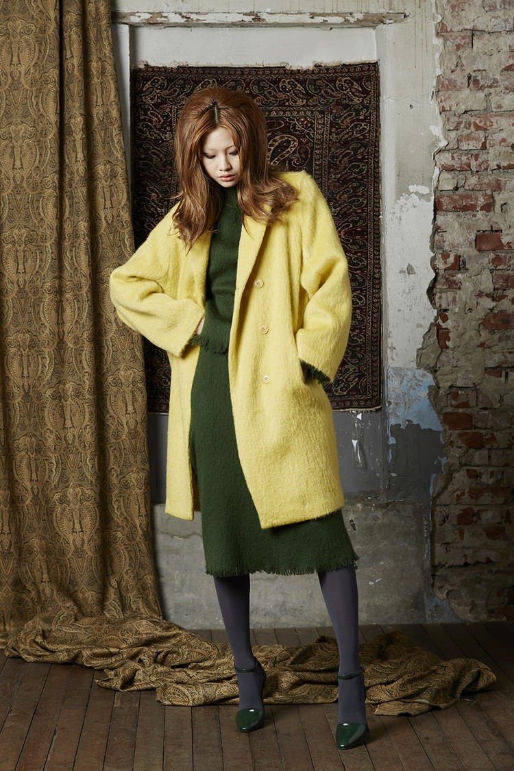 Pastel Wool Coat