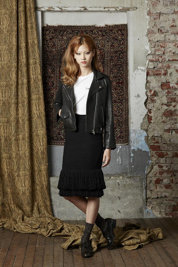 Fringe Knit Skirt