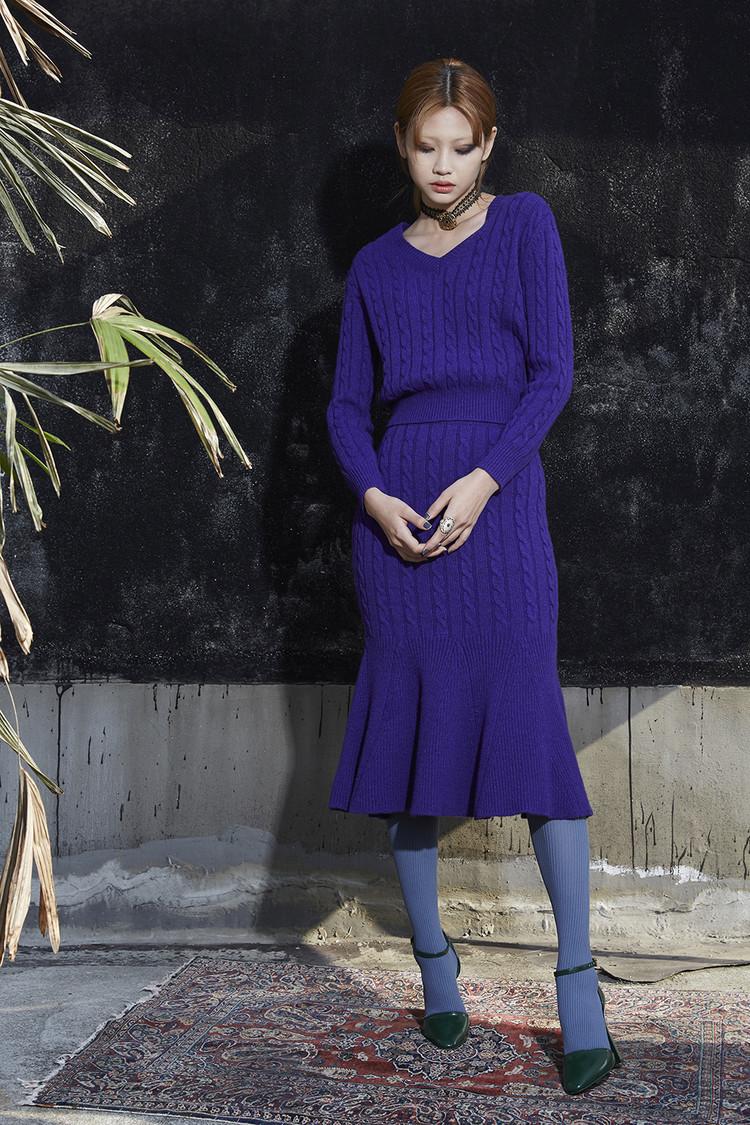 Twist Knit Skirt
