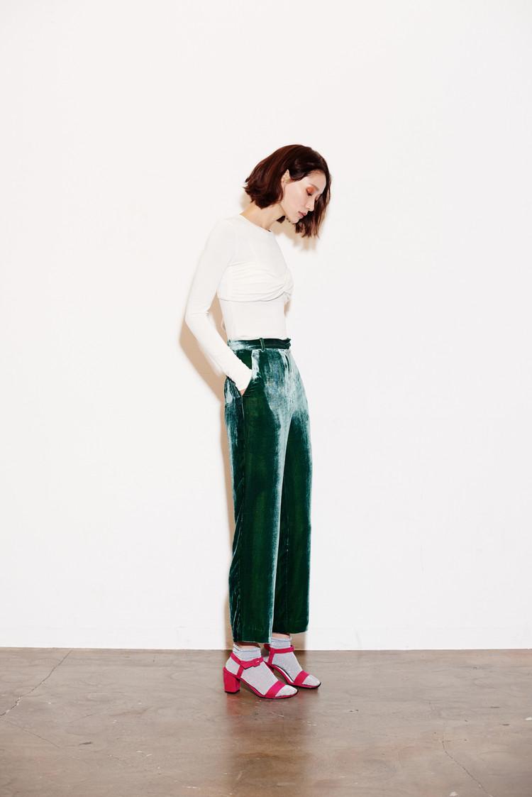 Silk Velvet Pants