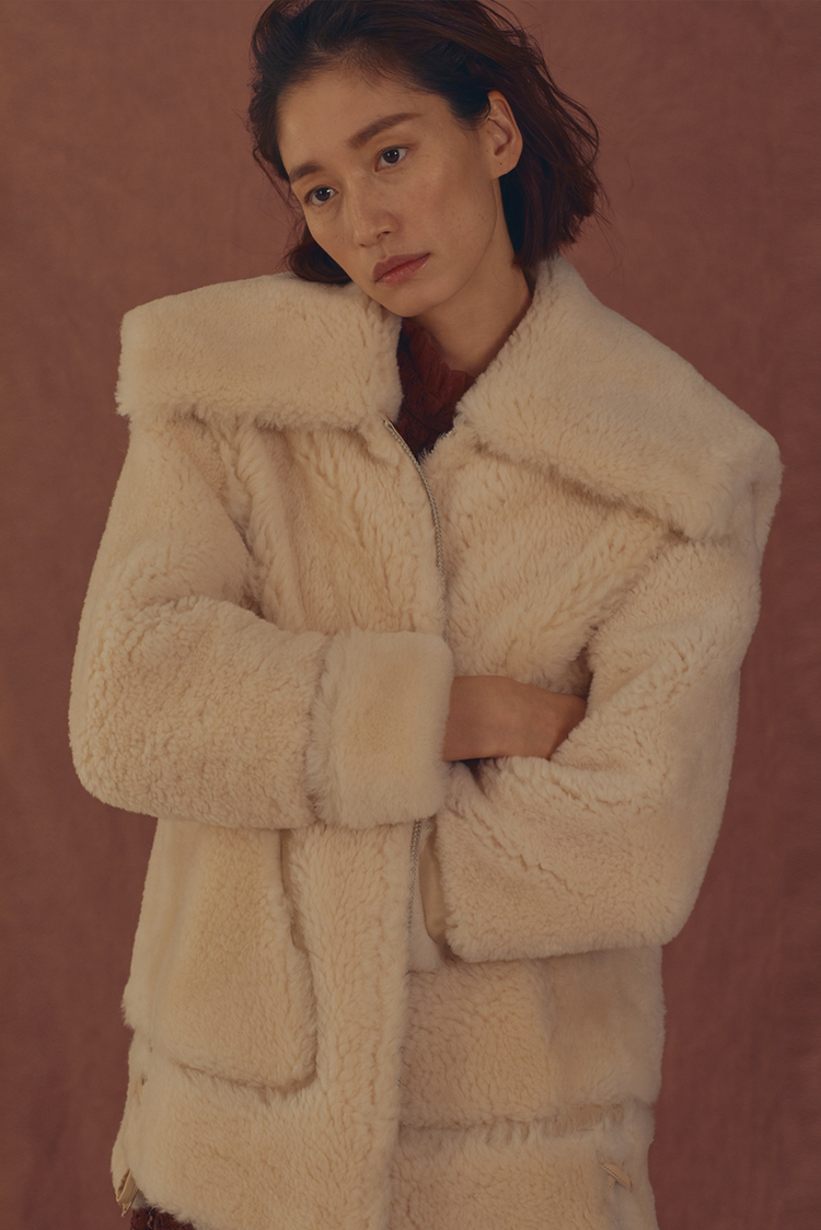 Tangerine Fur Jacket