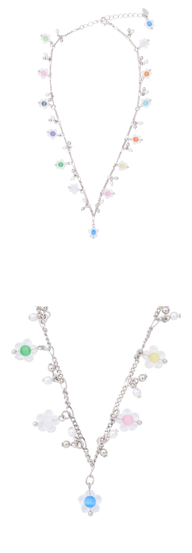 스윙셋(SWINGSET) Flower Chain Necklace (Rainbow)