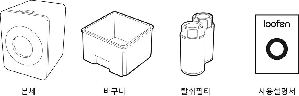 루펜 음식물 처리기 구성품 food waste reducer slw 01