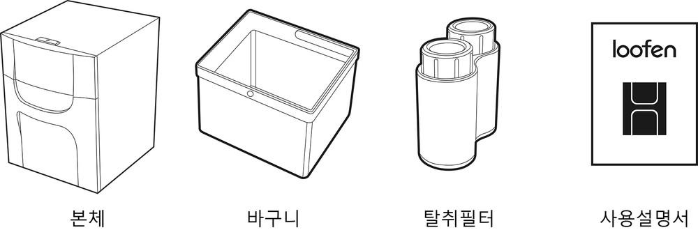 루펜 음식물 처리기 구성품 food waste reducer slw 05