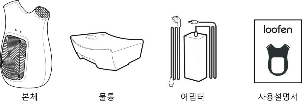 루펜 바람 제습기 dehumidifier SLH-M 구성품