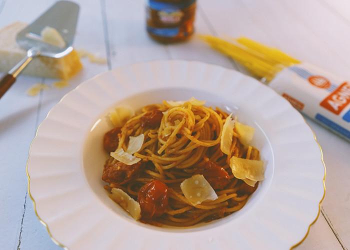 garlic pomodoro spaghetti