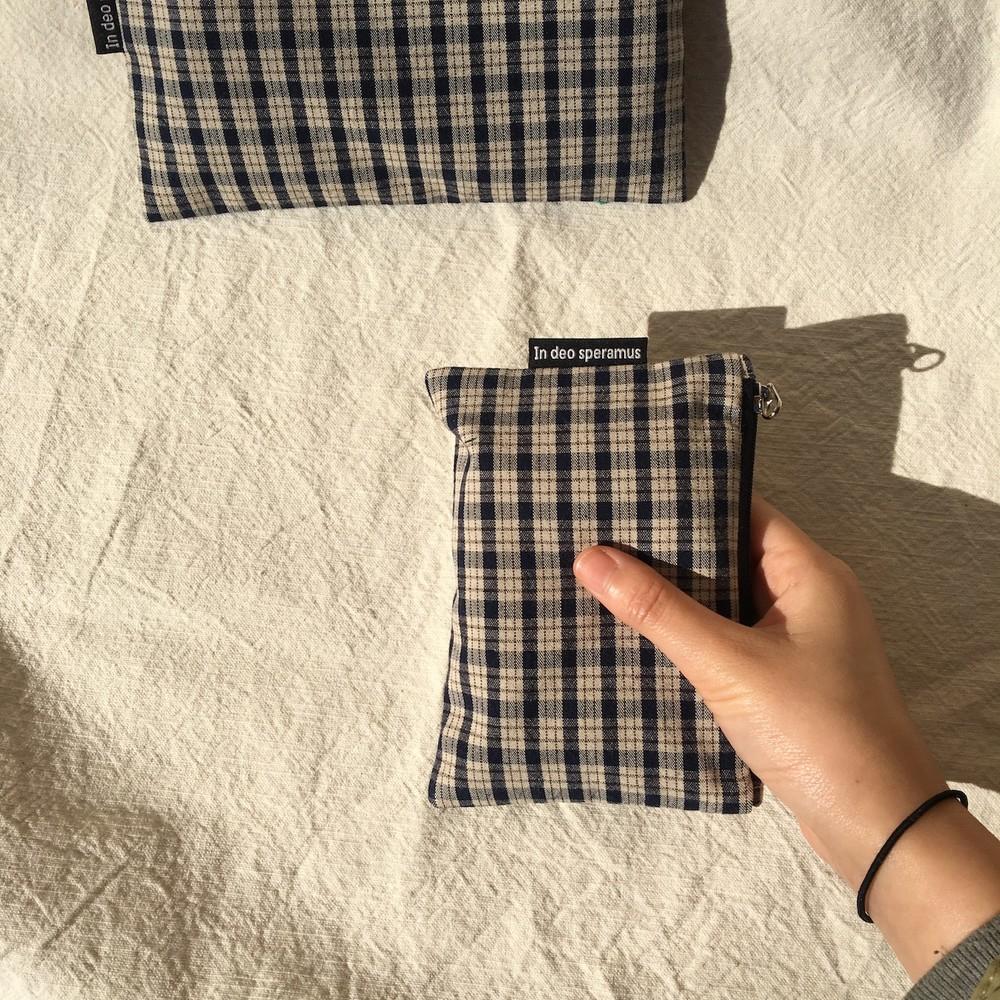믹스 체크 파우치(Mix check pouch) - 인데오스페라무스, 6,500원, 메이크업 파우치, 지퍼형