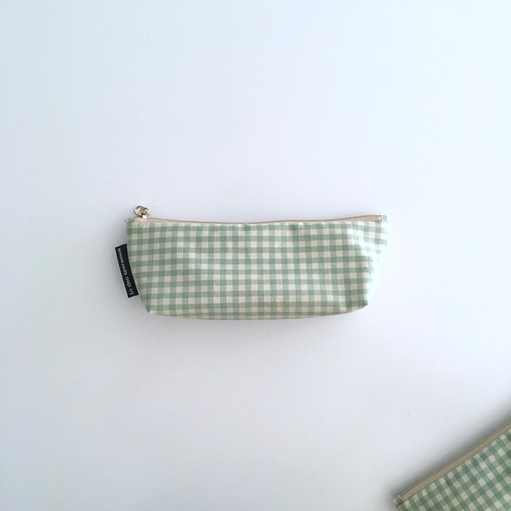 민트 체크 필통(Mint check pencil case)9,500원-인데오스페라무스디자인문구, 필통/파우치, 패브릭필통, 심플바보사랑민트 체크 필통(Mint check pencil case)9,500원-인데오스페라무스디자인문구, 필통/파우치, 패브릭필통, 심플바보사랑